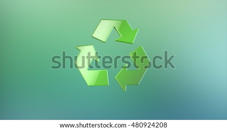 Recycle Green 3d Icon