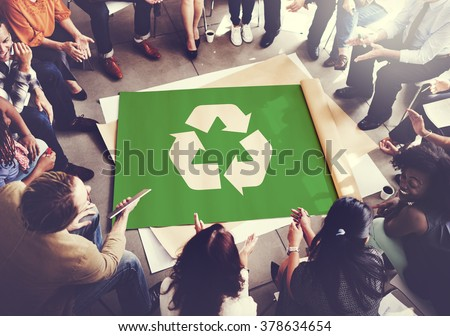 Recycle Green Environment Conservation Eco Concept - stock photo