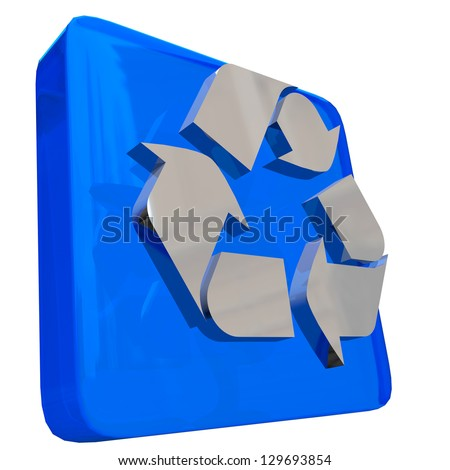 RECYCLE ICON - 3D - stock photo