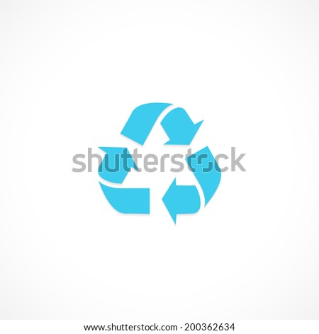 recycle, icon isolated on a white background for your design - stock photo