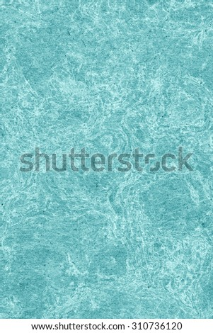 Recycle Kraft Paper, Coarse Grain, Crumpled, Blotted, Mottled, Stained Cyan, Grunge Texture Sample.