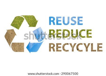 Recycle logo - stock photo