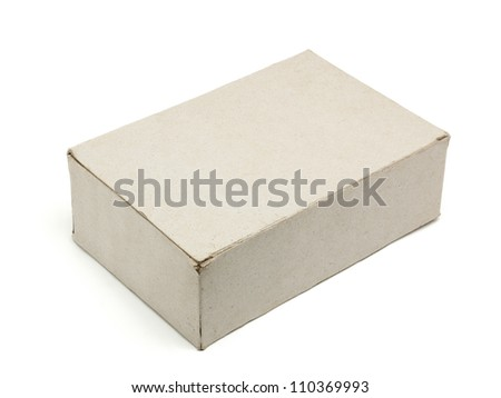 Recycle paper box isolated