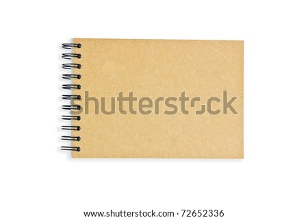 Recycle paper notebook on white background - stock photo