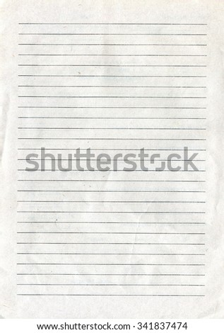 Recycle Paper Texture with lines - stock photo