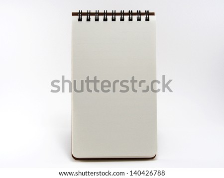 Recycle Portrait Note Book - stock photo