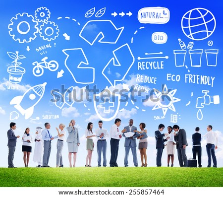 Recycle Reuse Reduce Bio Eco Friendly Environment Concept - stock photo