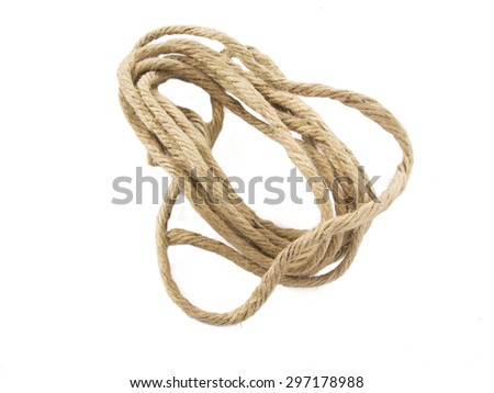 Recycle rope isolated on white