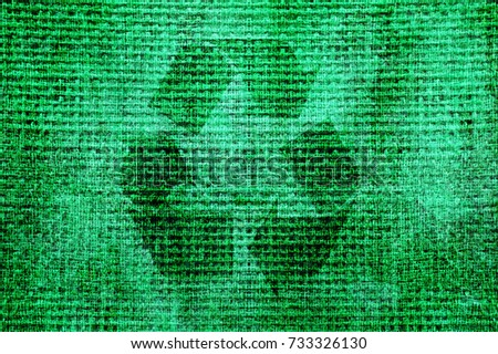 Recycle sign background