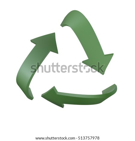 recycle soft icon B 3d rendering