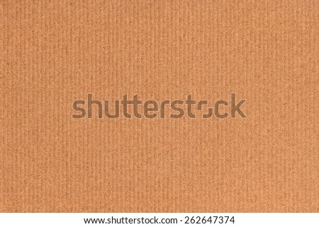 Recycle Striped Brown Kraft Paper, coarse grain, crushed, grunge texture sample. - stock photo