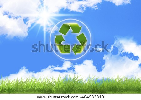 Recycle symbol .Conceptual drawing of planet conservation