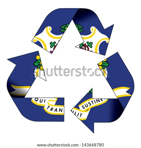 Recycle symbol flag of Connecticut - stock photo