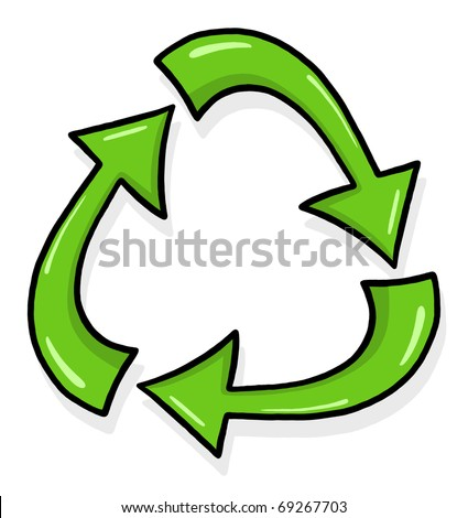 Recycle Symbol Illustration Recycle Sign Green Stock Illustration