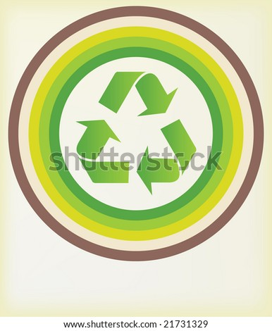 recycle symbol with room for text - vector version available in portfolio