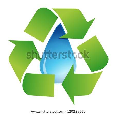 recycle water symbol illustration design over white