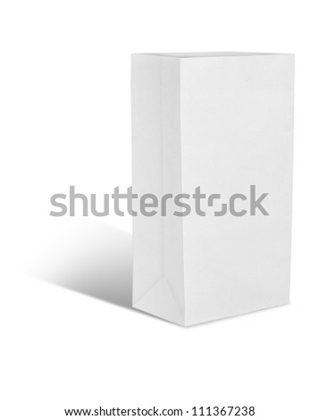 recycle white paper bag - stock photo
