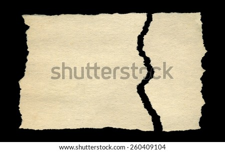 Recycled Blank Paper. Isolated on black background. - stock photo