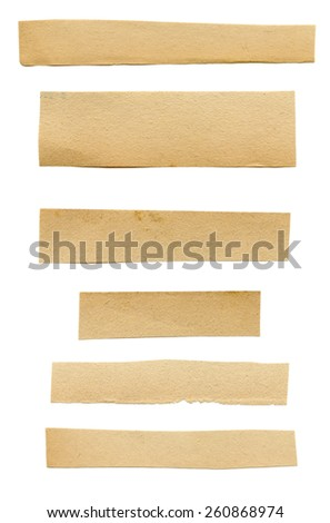 Recycled Blank Paper. Isolated on white background. - stock photo