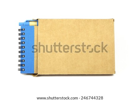 Recycled brown book isolated on white background - stock photo