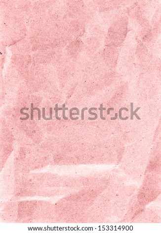 Recycled crumpled colored  paper sheet texture or background with Torn edge. Old craft paper texture.  - stock photo
