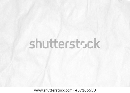 Recycled crumpled white paper texture or paper background for design with copy space for text or image.