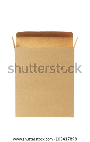 recycled paper box. - stock photo