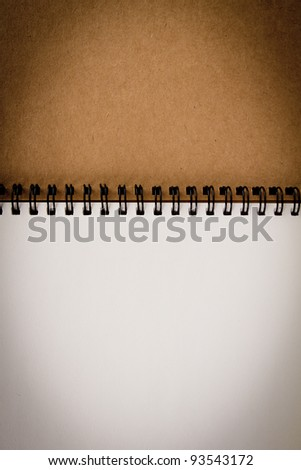 Recycled paper notebook - stock photo