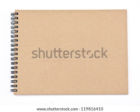 recycled paper notebook front cover