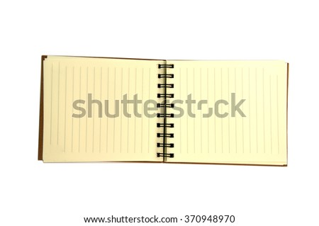 recycled paper notebook on white