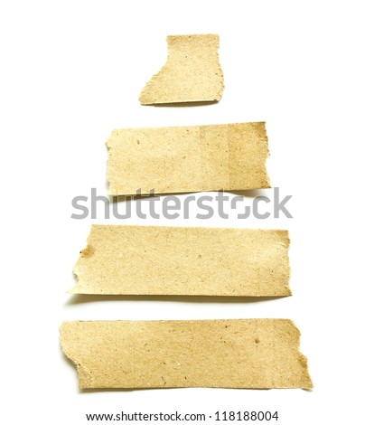 Recycled paper on white background. - stock photo