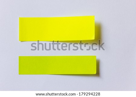 Recycled paper stick note - stock photo