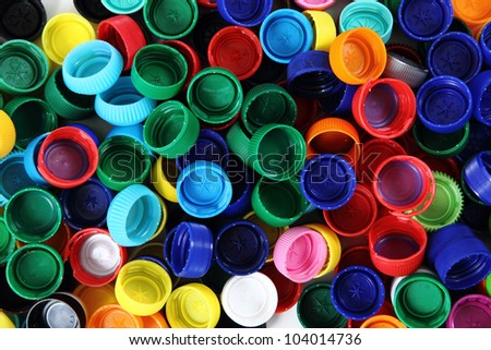 Recycled plastic bottle caps stock photo edit now 104014736 shutterstock - Can you recycle bottle caps ...