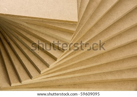 recycled wood in a fan - stock photo