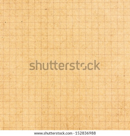 Recycled yellow  paper  texture or background with cell. High resolution  - stock photo