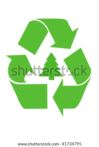Recycling Christmas Tree - stock photo