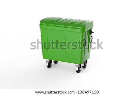 Recycling container - stock photo