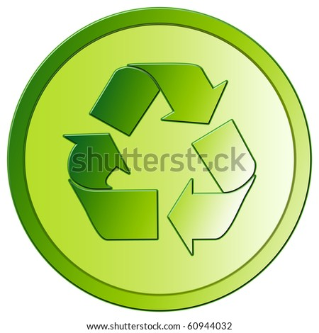 Recycling - Green Eco Button