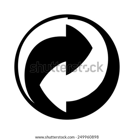 Recycling icon isolated on white background. - stock photo