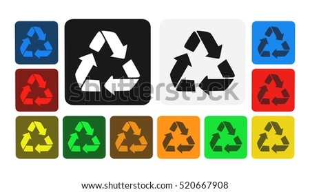 recycling icon, sign,illustration