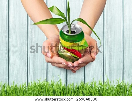 Recycling, Recycling Symbol, Can. - stock photo