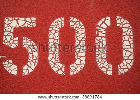 Red 500 - stock photo