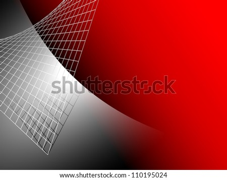 Red abstract background with silver grey metal - stock photo