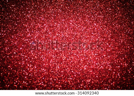 Red abstract glitter shiny background. Red glitter texture for background - stock photo