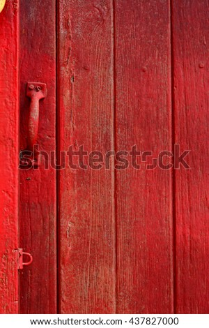 Red abstract grunge wood door texture pattern background