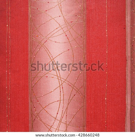 RED, ABSTRACT RAISED LINE PATTERN ON ROUGH PAPER , BACKGROUND