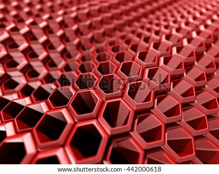 Red Abstract Technology Hi-Tech Futuristic Background. 3d Render Illustration - stock photo