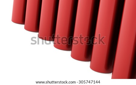 Red abstract tube background rendered
