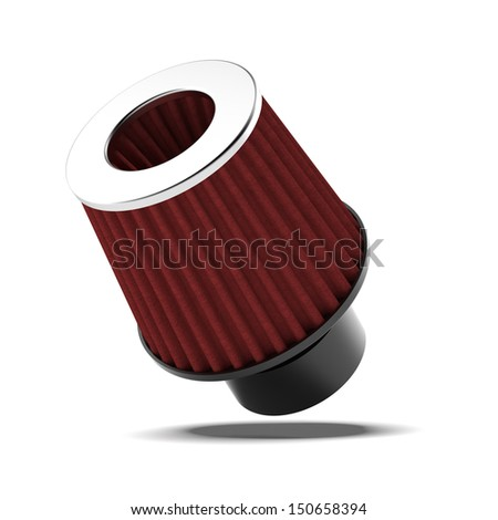 red Air filter - stock photo
