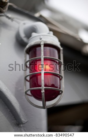 Red Alert light in protective cage